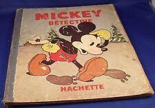 BD MICKEY 1933 N°6 DETECTIVE,hachette,disney,bande dessinée
