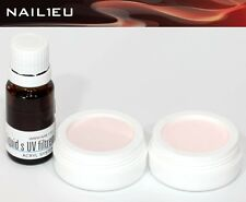 Acryl-Set 2x10g Pulver PINK, Camouflage SWEET PINK + Liquid 10 ml NAIL1EU