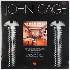 JOHN CAGE: Sonatas & Interludes, Book of Music TOMATO Avant Garde 2x LP
