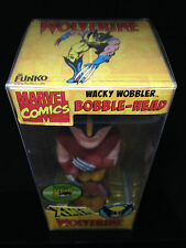 FUNKO MARVEL WOLVERINE WACKY WOBBLER BOBBLE HEAD SDCC 2008 GOLD BASE CHASE PIECE