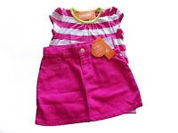 NWT Girl/'s Gymboree Bright Ideas pink short sleeve shirt adjustable skirt ~ 5