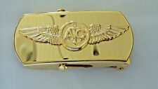 USN US NAVY SHIP SHORE AIR CPO CHIEF PETTY OFFICER AIRCREW SPECIALTY BELT BUCKLE