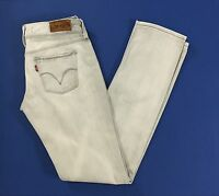 Levis 571 W29 tg 43 jeans slim fit donna usato grigio chiaro donna levi's T1272