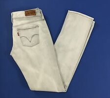 Levis 571 W29 tg 42 43 jeans slim fit grigio chiaro usato donna levi's T1272