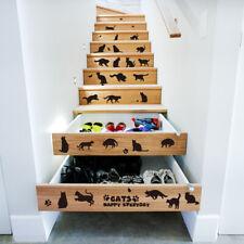 Pegatinas De pared De gatos negros 3D DIY accesorios De decoración del hogar