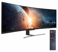 "VIOTEK SUW49C 49"" Super Ultrawide 32:9 Curved Monitor W/ Speaker HDR 3840x1080p"