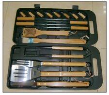Landmann Bambú Conjunto de herramientas en Caso de asas de bambú sólido de 18 piezas