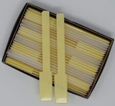"""Piano Keytops Glossy Yellow Simulated Ivory Full set of 52 Replacement 2"""" Head"""
