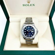 Rolex YachtMaster Watch Platinum and Stainless Steel 40MM Scrambled Serial Mint