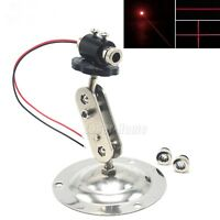 650nm 5mW Red Dot Line Cross Focusable Laser Diode Module + 12mm Holder Locator