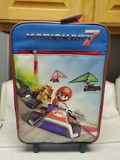 Official Nintendo Mario Kart 7 Kids Rolling Suitcase Luggage Travel NEW W TAG