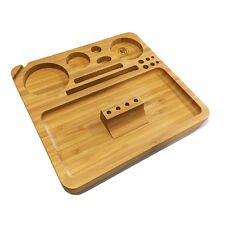 """Bamboo Rolling Tray w/ Magnetized Rolling Jig (8.5"""" x 8"""") - Green Goddess Supply"""