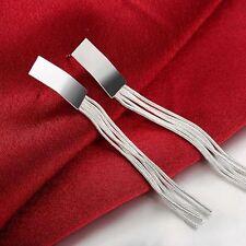 Womens 925 Sterling Silver Long Tassel Drop Dangle Hook Fashion Earrings #E10