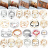 1Set Womens Boho Bracelet Map Bead Love Heart Tassel Bangle Cuff Jewellery Gifts