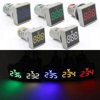 AC 20V--500V 22MM Current Tester Voltage Meter LED Display Voltmeter Pilot Light