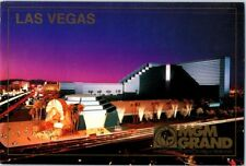MGM Grand Lion Las Vegas Hotel Vintage Casino postcard Strip Night c. 1993 NOS b