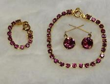 "CHIC! ROSE PINK Rhinestone Jewelry Set Necklace Earrings for Cissy 20-22"" Doll"