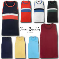Mens Vest Top Pierre Cardin Sleeveless Summer Beach T Shirt Tee Size M L XL XXL