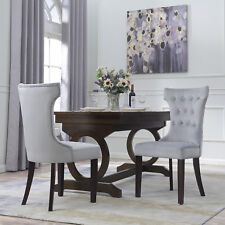 NEW Premium Dining Chair Accent Living Room Armless Side Chairs (Set of 2) Gray