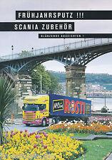 Scania Lkw Truck Zubehör Frühjahrsputz Prospekt 1999 brochure accessories truck