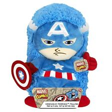 "Marvel Captain America Plush Hideaway Character Pillow 14"" inches New with Tag"