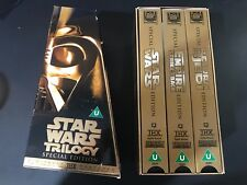 Star Wars Trilogy - Special Edition - Gold Box Set - Pal VHS NEW OPEN BUT UNUSED