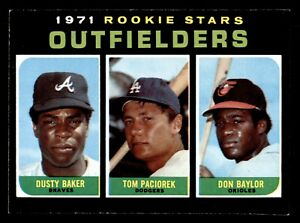 1971 Topps #709 Don Baylor Dusty Baker Rookie Outfielders EX+/EXMT