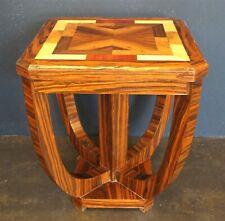 Petite Table en Bois '900 Style Art Déco - Incrustations Ronce - France Xx
