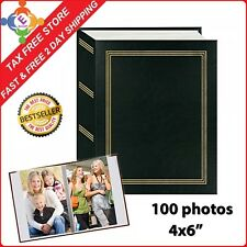 Photo Album Organizer Wedding Baby Family Pictures Storage Holds 4x6 100 Photos