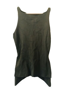 Seed Heritage Olive Green Long Knit Top XS - S Excellent Condition