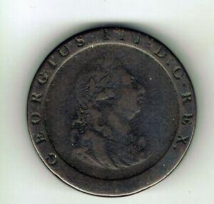 1797 Cartwheel George III One Penny coin