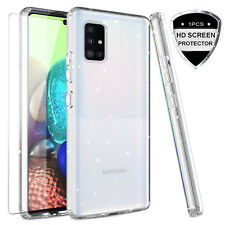 For Samsung Galaxy A71 5G Phone Case Clear Glitter Bling Cover /Screen Protector