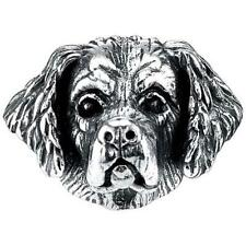 Sterling Silver Clumber Spaniel Universal Bark Beads Charm