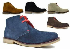 Mens New Rounded Toe Casual Chukka Lace Up Ankle Desert Boots Shoes Size