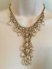 GORGEOUS VINTAGE RHINESTONE BIB NECKLACE - JULIANA