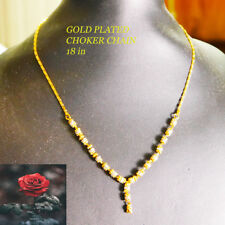 Gold Silver choker chains necklaces
