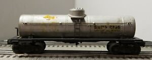 Lionel 2755 Tank car from 1945 with Flying Shoes and Black Fiber Boards
