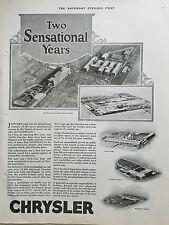 1926 Three Chrysler Motors Car Plants in Detroit MI Michigan Sensational Yrs Ad