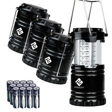 Amazing Etekcity 4 Pack Portable Outdoor LED Camping Lantern with 12 AA Batterie