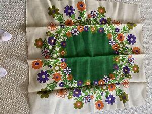 Flower Tablecloth Table Cloth burlap Scandinavian Norwegian