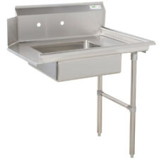 """Commercial Stainless Steel Right Side Dirty Soiled 36"""" Dish Washer Table Sink 3'"""