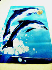 "Welcome Garden Flag Mini Banner Size 12.5"" x 18"" Dolphins Patio Porch Gift"