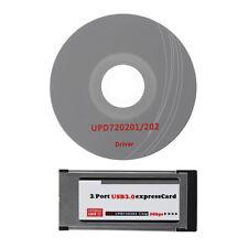 New USB  3.0 Express Card ExpressCard 34mm/54mm 2 Port Hidden Adapter For Laptop