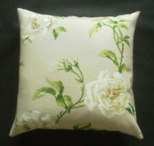 """Colefax & Fowler Fabric Cushion Cover - AMELIE - Cream/Creen - Linen Floral 18"""""""