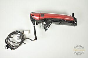 03-06 Mercedes R230 SL500 SL55 Right Passenger Door Handle Keyless Go Red OEM