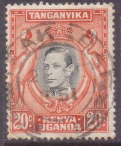 """KUT  TANGANYIKA   POSTMARK / CANCEL   """"IFAKARA""""   1951"""