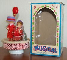 Vtg Music Box Christmas Works Great Jingle Bells Yuletide Enterprises Japan Cute