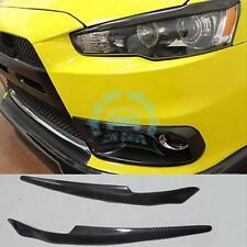 For Mitsubishi Lancer Evo Lution X 10 Headlights Eyebrows Eyelids Carbon Fiber