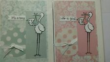 Newborn greeting cards bulk lot with envelops it is a baby girl / boy 32 cards