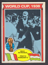 Topps - Footballers (Orange Back) 1978 - # 339 World Cup 1938